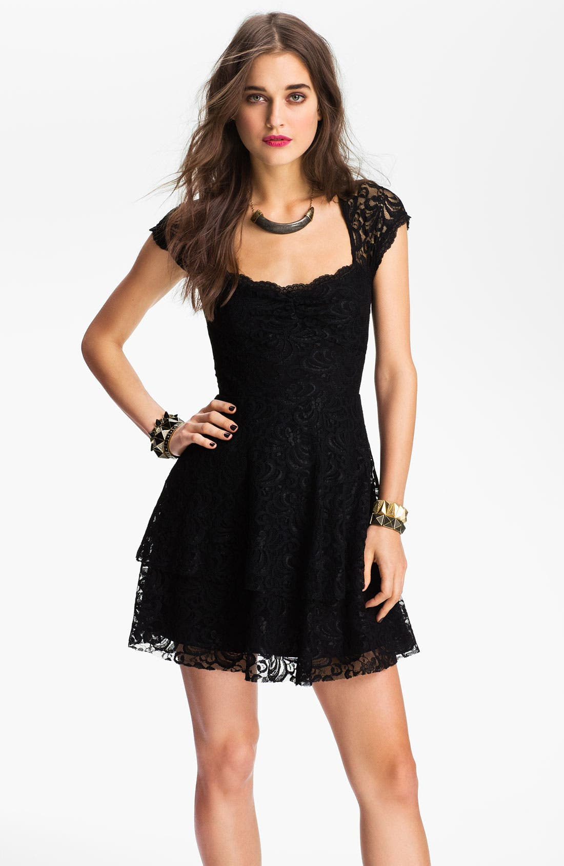 Main Image - Free People Tiered Lace Dress