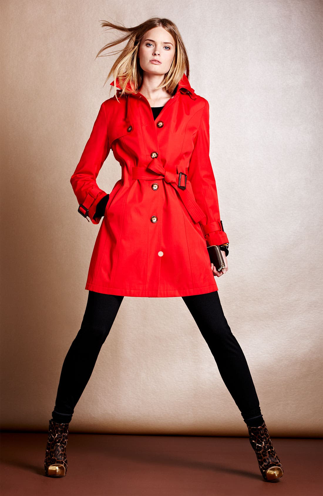 Main Image - MICHAEL Michael Kors Trench, Ponte Pants & Accessories
