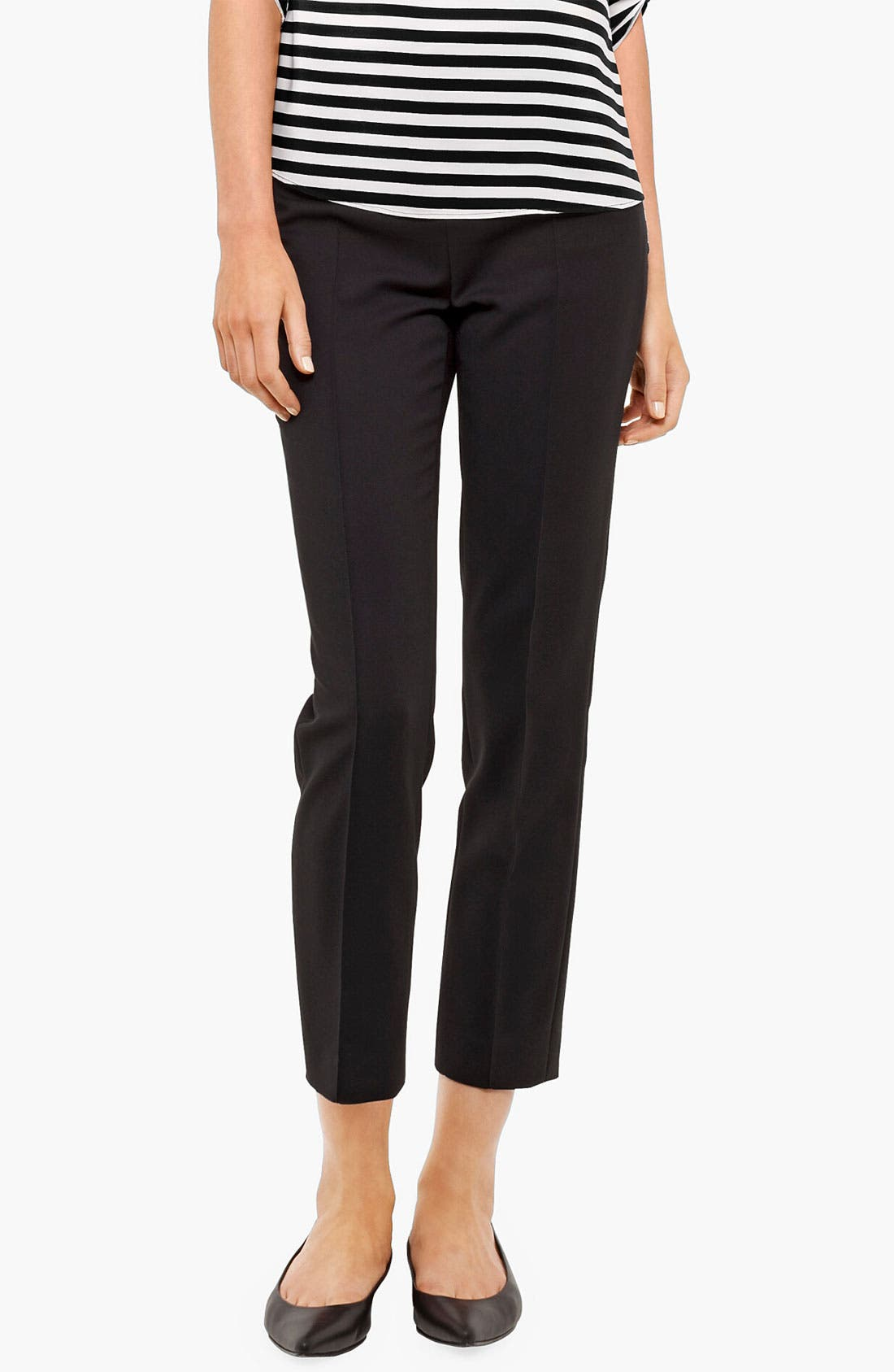 Alternate Image 1 Selected - Akris punto 'Franca' Straight Leg Crop Pants
