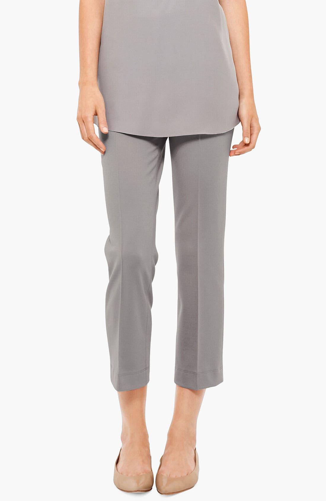 Alternate Image 1 Selected - Akris punto 'Marina' Side Zip Crop Jersey Pants