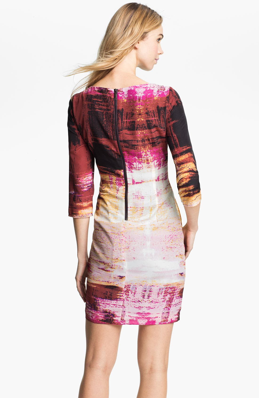 Alternate Image 2  - Vince Camuto Abstract Print Jersey Dress