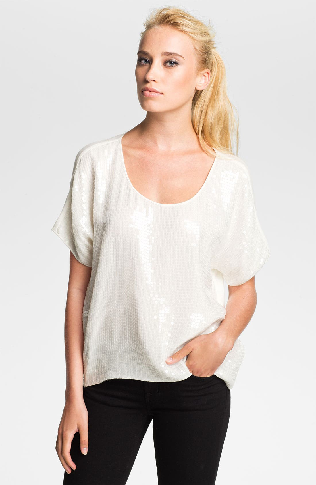 Alternate Image 1 Selected - Robert Rodriguez Sequin Scoop Tee