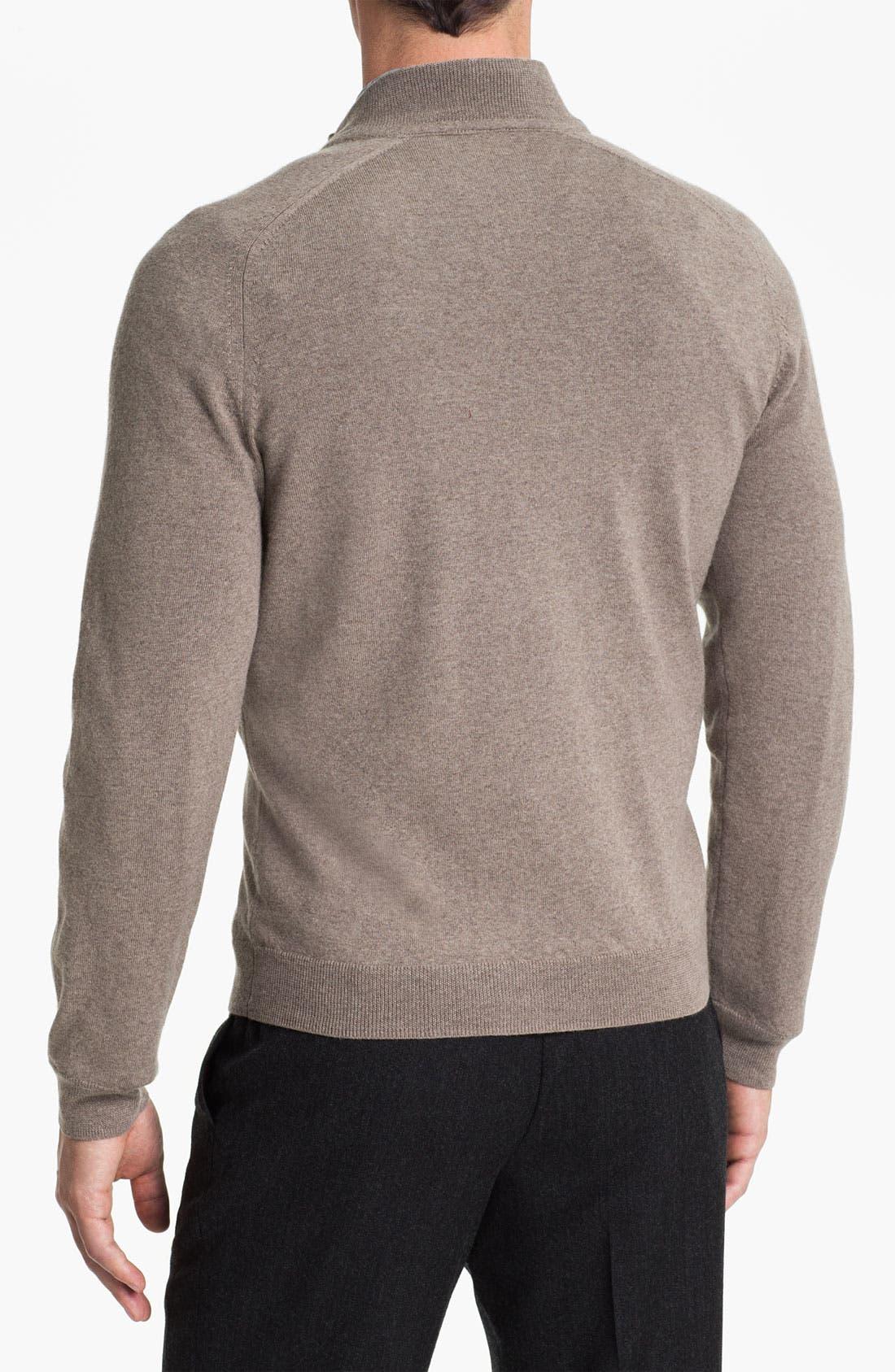 Alternate Image 2  - Nordstrom Merino Wool Half Zip Sweater