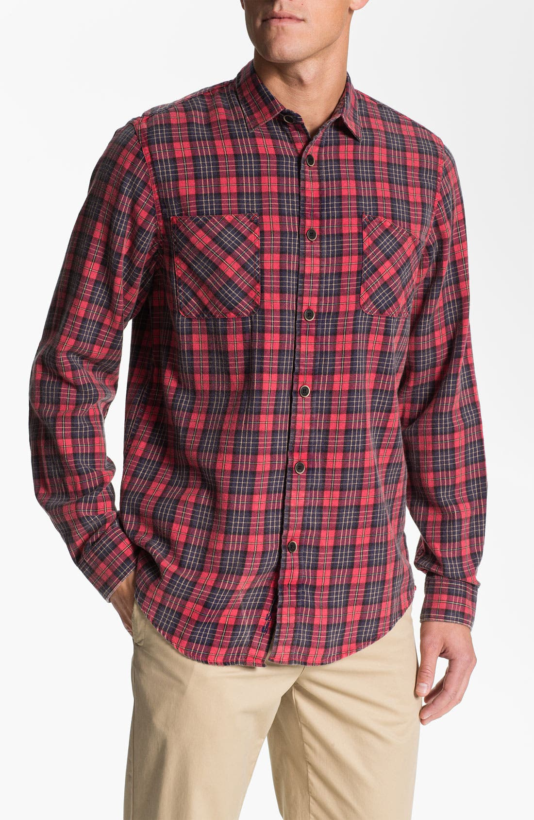 Alternate Image 1 Selected - Ben Sherman 'Shoreditch' Plaid Twill Shirt
