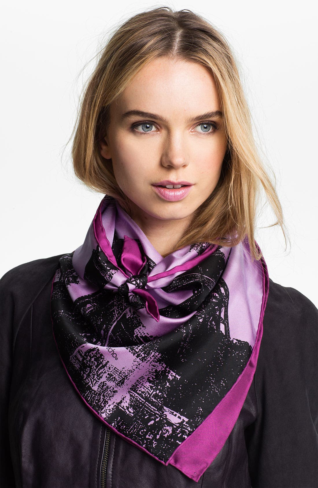 Main Image - Echo 'Eiffel Tower' Square Silk Scarf
