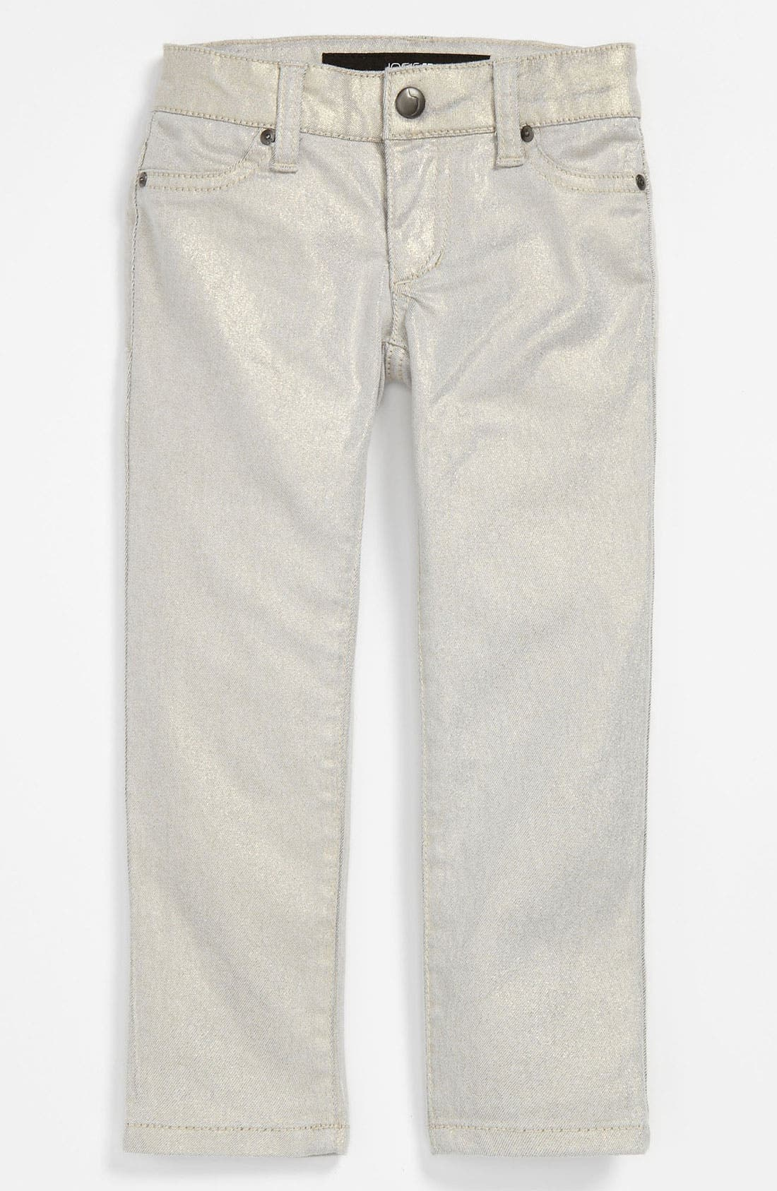 Alternate Image 2  - Joe's Stretch Skinny Leg Metallic Denim Pants (Toddler)