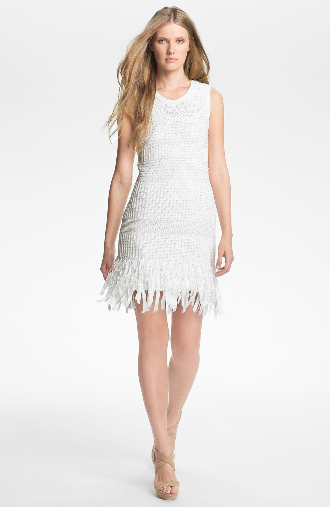 Main Image - Mcginn 'Lissa' Fringe Hem Knit Dress