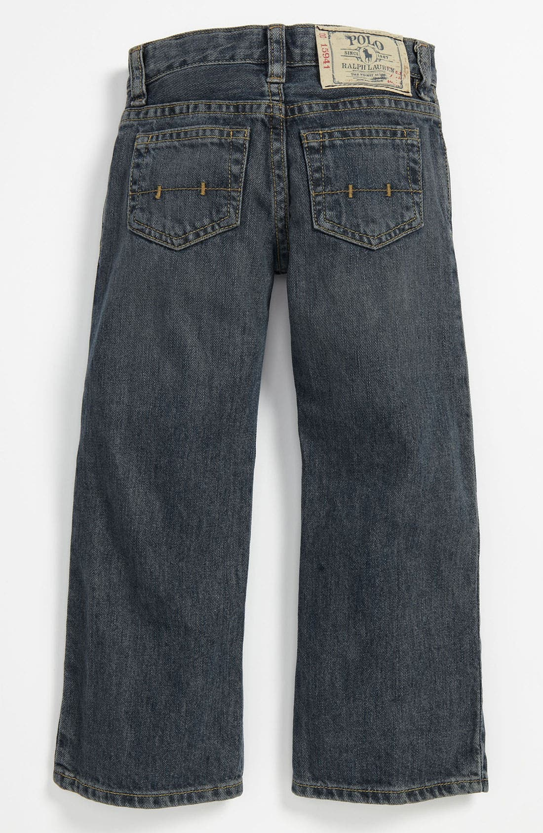 Alternate Image 1 Selected - Ralph Lauren Straight Leg Jeans (Toddler)