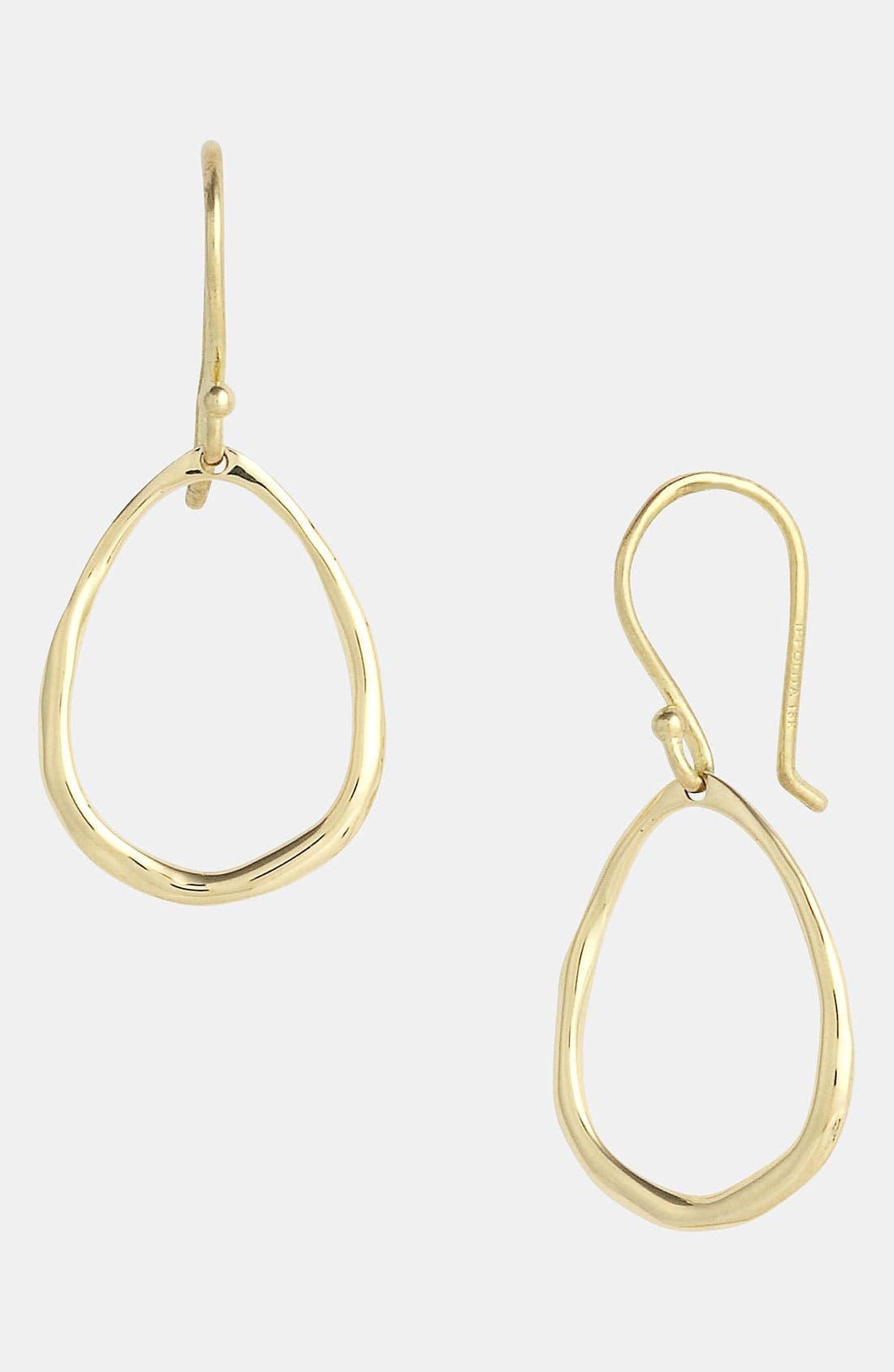 Alternate Image 1 Selected - Ippolita 'Plain' Mini Squiggle Oval 18k Gold Earrings