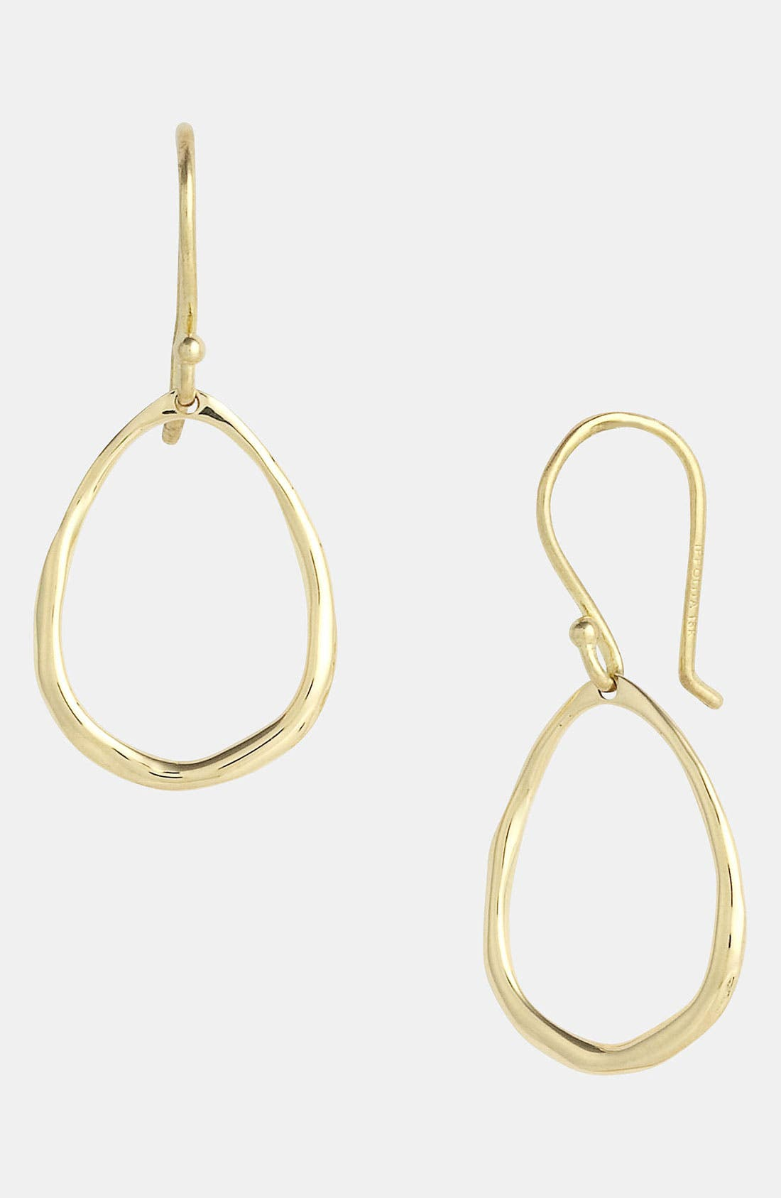 Main Image - Ippolita 'Plain' Mini Squiggle Oval 18k Gold Earrings