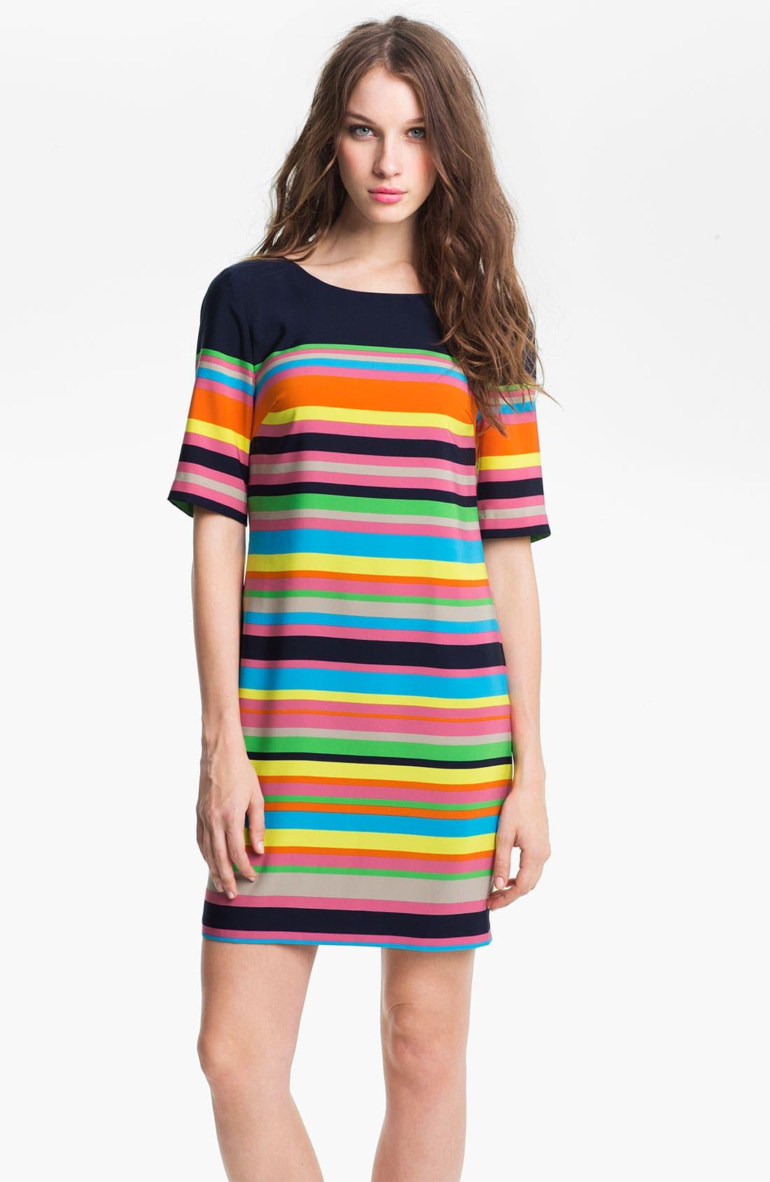 Alternate Image 1 Selected - Trina Turk 'Flagimi' Stripe Shift Dress