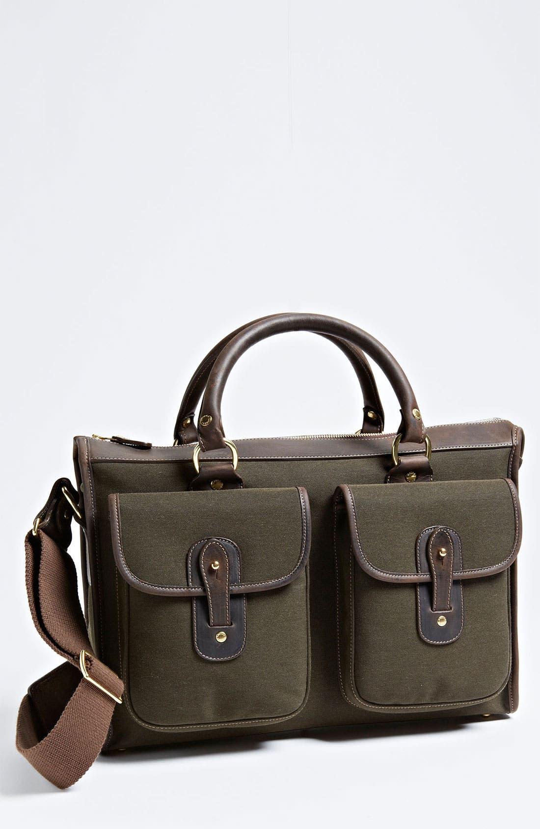 Main Image - Ghurka 'Examiner' Canvas Twill Briefcase