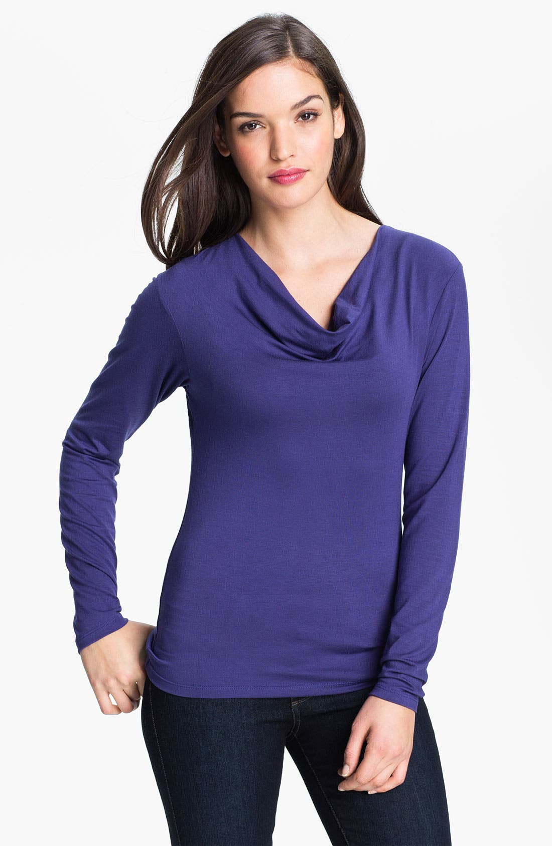 Main Image - Purity Cowl Neck Long Sleeve Top