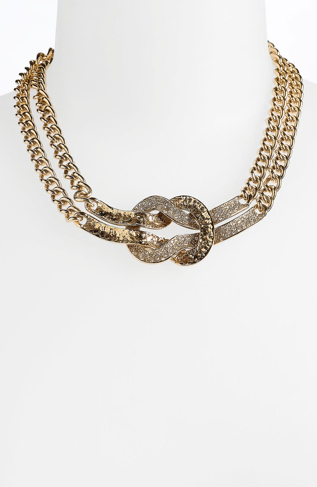 Alternate Image 1 Selected - St. John Collection Antique Gold Knot Necklace