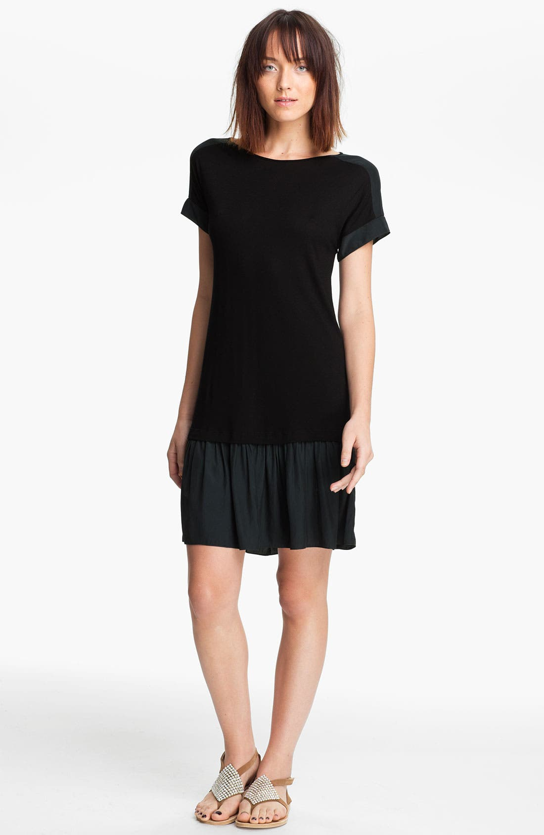 Main Image - Thakoon Carbon Copy Layered Drop Waist Jersey Dress