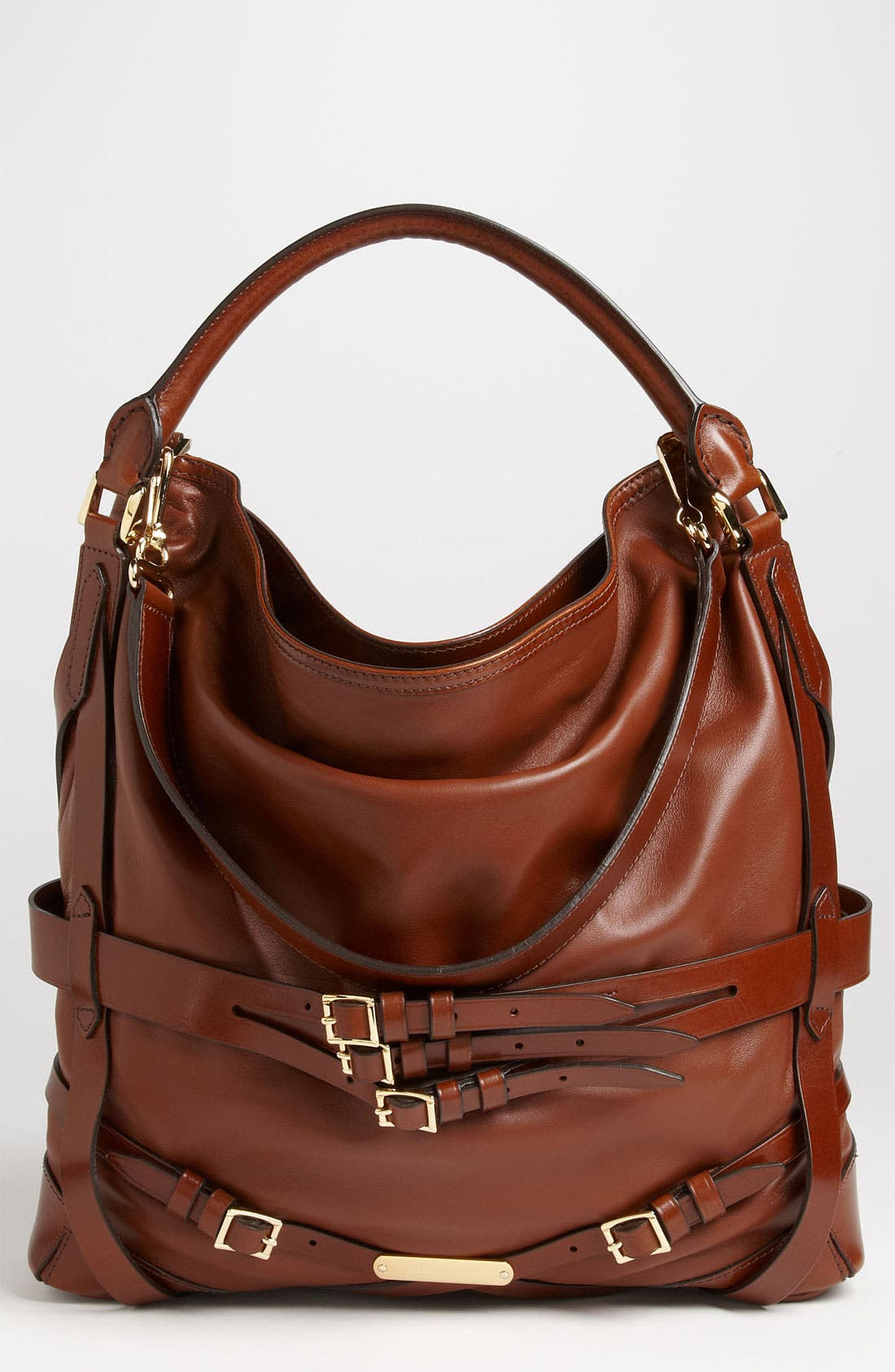 Alternate Image 1 Selected - Burberry 'Bridle' Leather Hobo