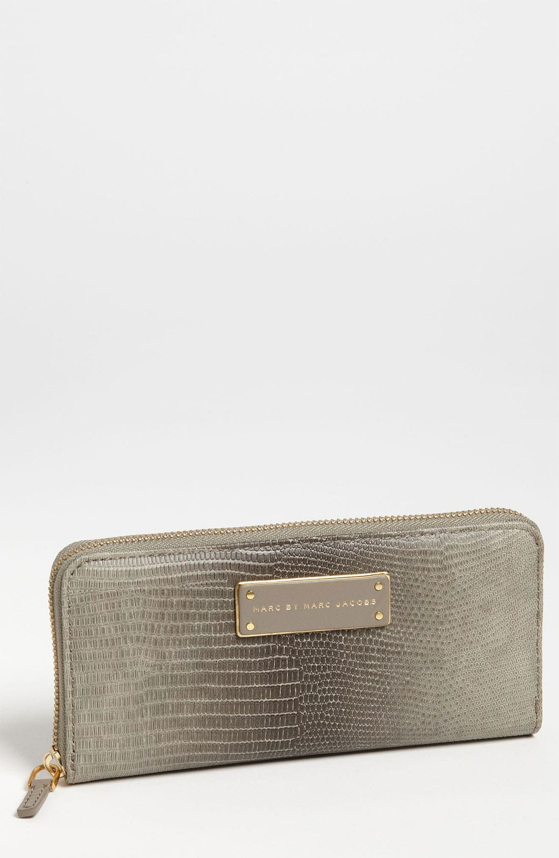 Main Image - MARC BY MARC JACOBS 'Take Me' Lizard Embossed Zip Around Wallet