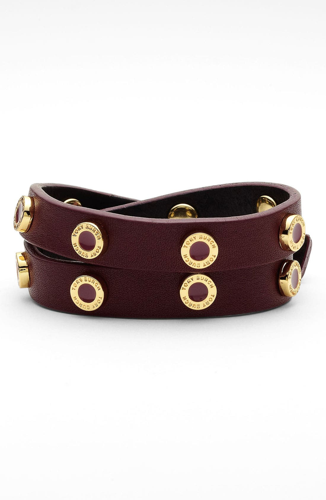 Alternate Image 1 Selected - Tory Burch 'Cole' Logo Double Wrap Bracelet