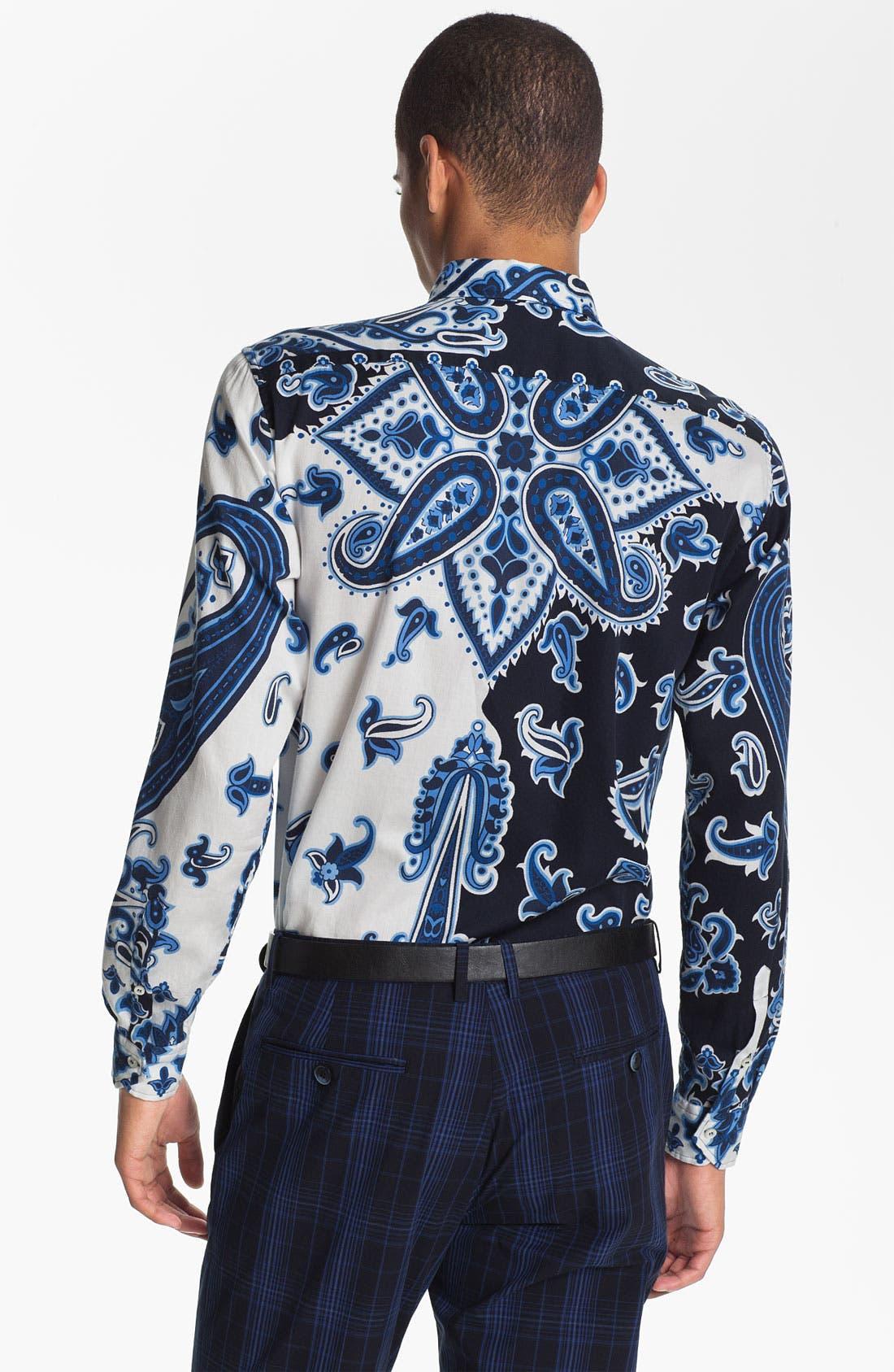 Alternate Image 2  - Etro 'Camicia Tom Foulard' Paisley Print Cotton Shirt
