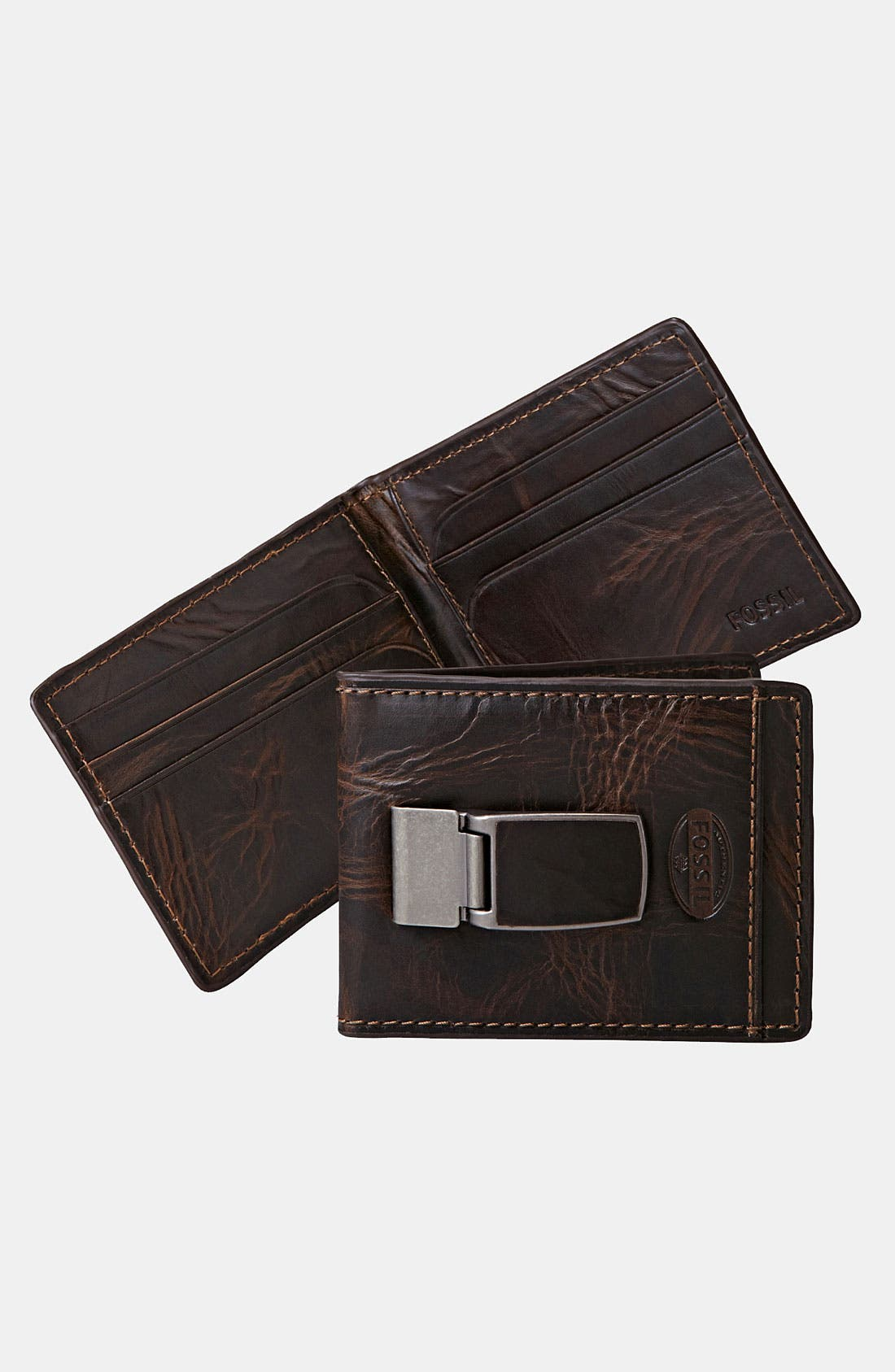 Alternate Image 1 Selected - Fossil 'Norton' ID Bifold Wallet