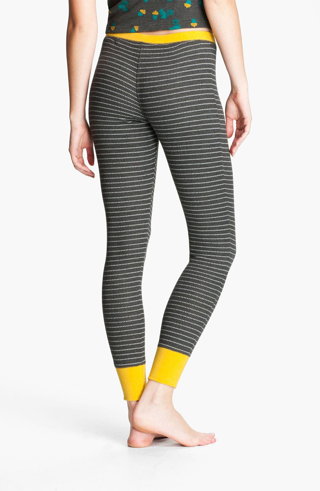 Alternate Image 2  - BP. Stripe Thermal Leggings (Juniors)
