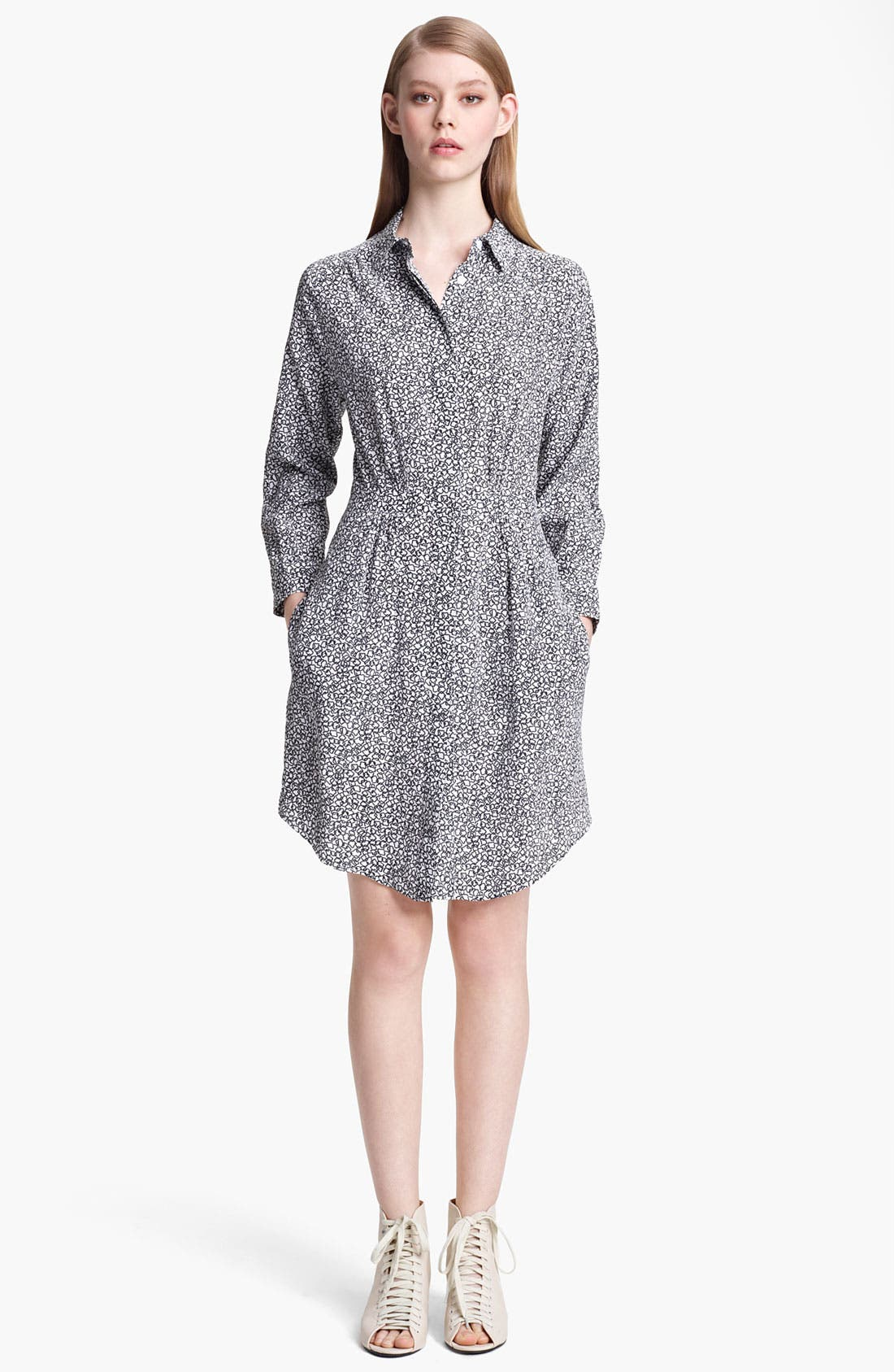 Main Image - Band of Outsiders Print Crêpe de Chine Shirtdress
