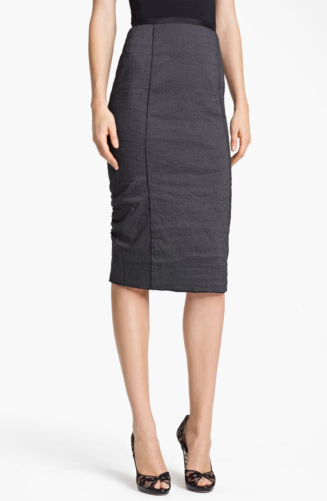 Alternate Image 1 Selected - Nina Ricci Pin Dot Pencil Skirt