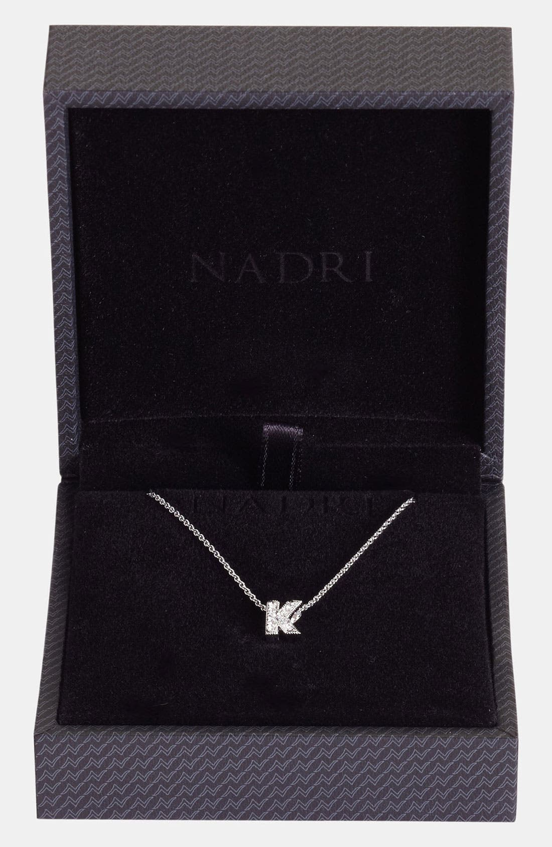 Alternate Image 2  - Nadri Boxed Initial Pendant Necklace