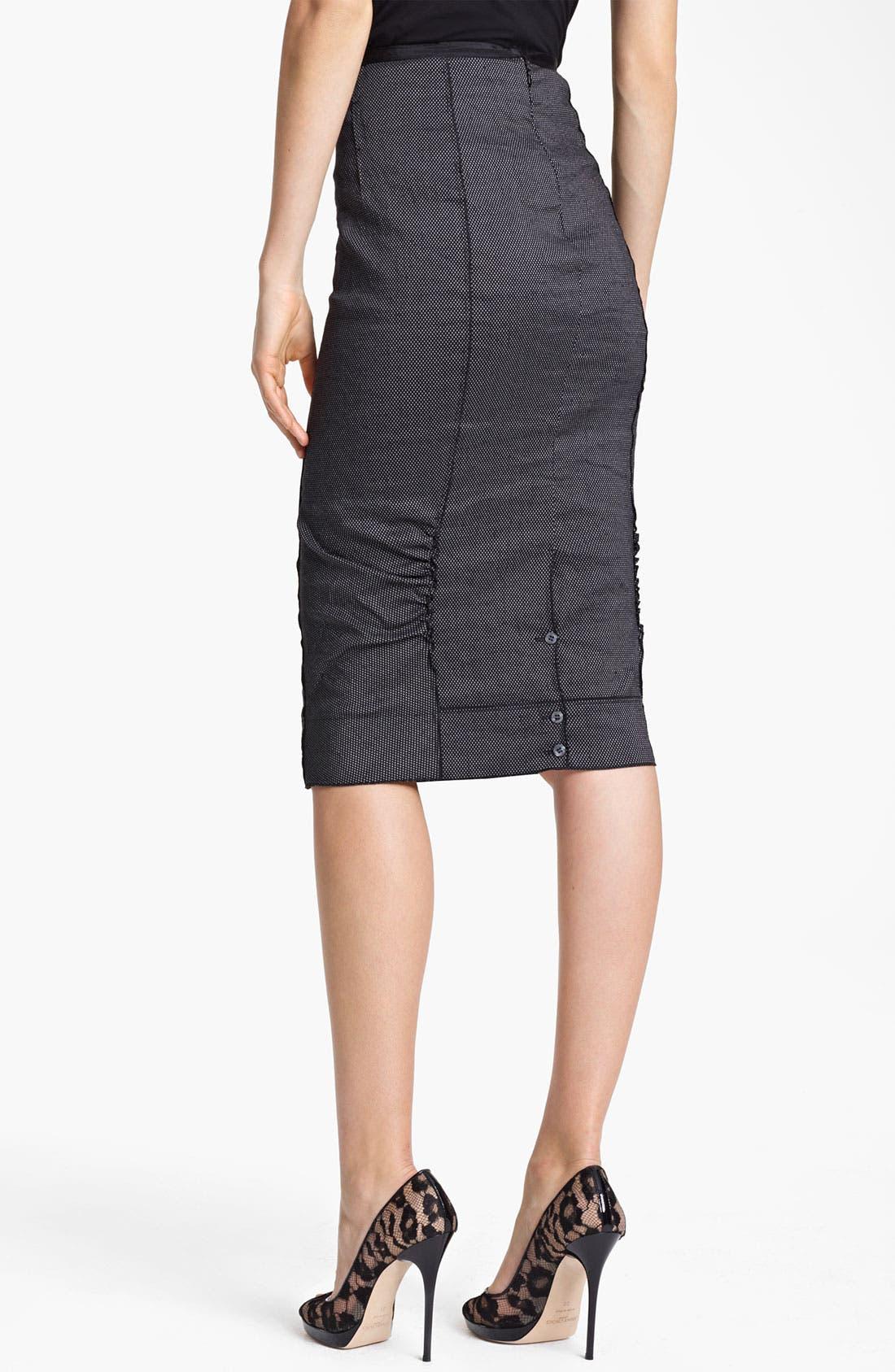 Alternate Image 2  - Nina Ricci Pin Dot Pencil Skirt
