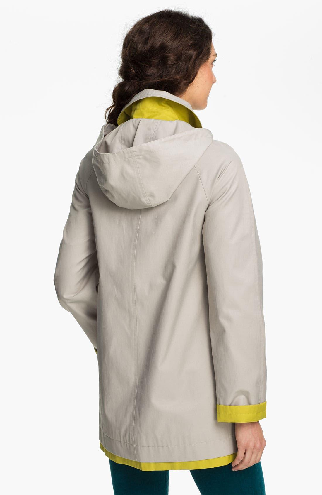 Alternate Image 2  - Gallery 'Pop of Color' A-Line Coat (Online Only)