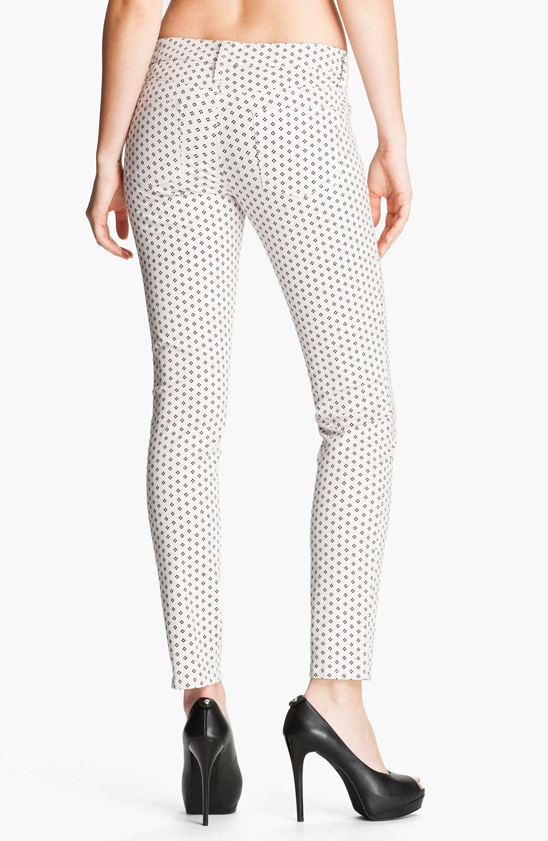 Alternate Image 2  - Splendid Print Skinny Jeans (Swan)