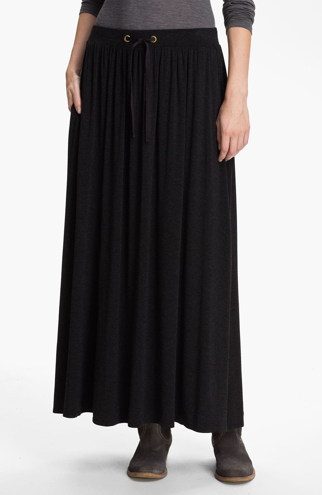 Alternate Image 1 Selected - Eileen Fisher Drawstring Maxi Skirt (Online Exclusive)