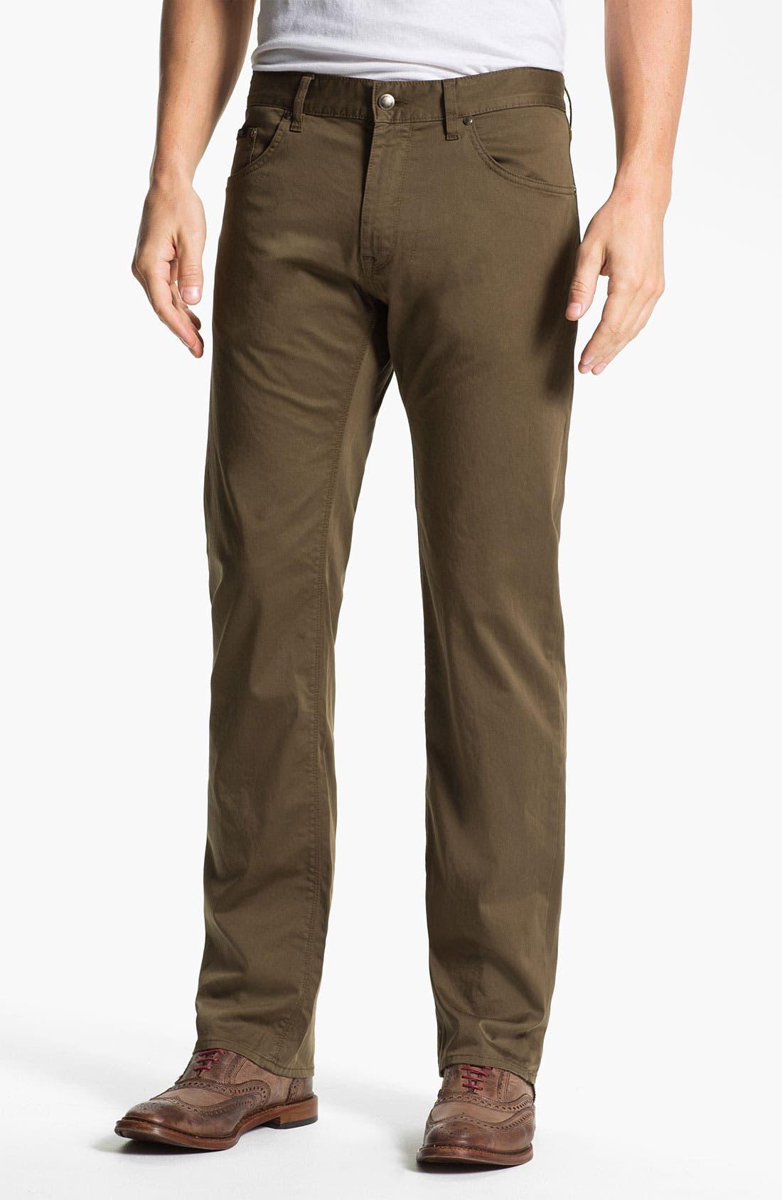 Main Image - BOSS Black 'Maine' Straight Leg Pants (British Tan)