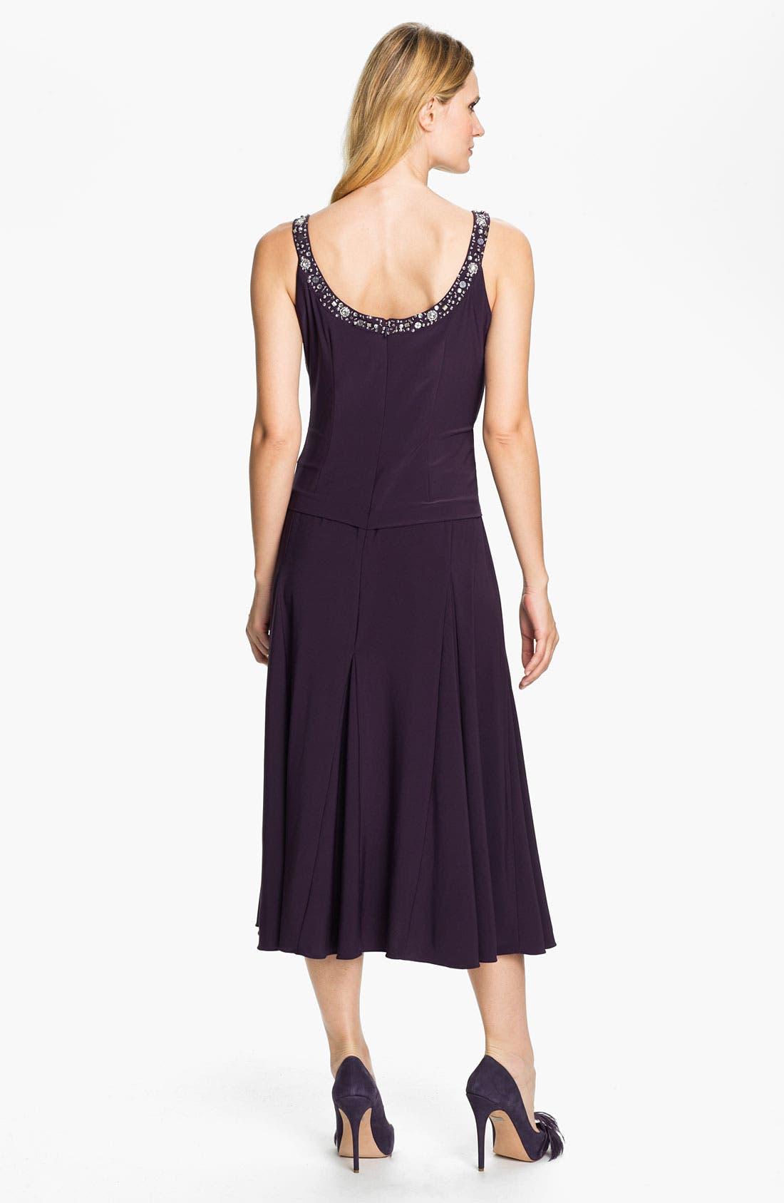 Alternate Image 2  - Alex Evenings Beaded Jersey Dress & Jacket