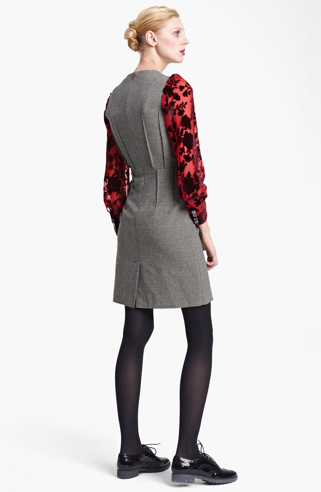 Alternate Image 2  - Junya Watanabe Velvet Sleeve Pencil Dress