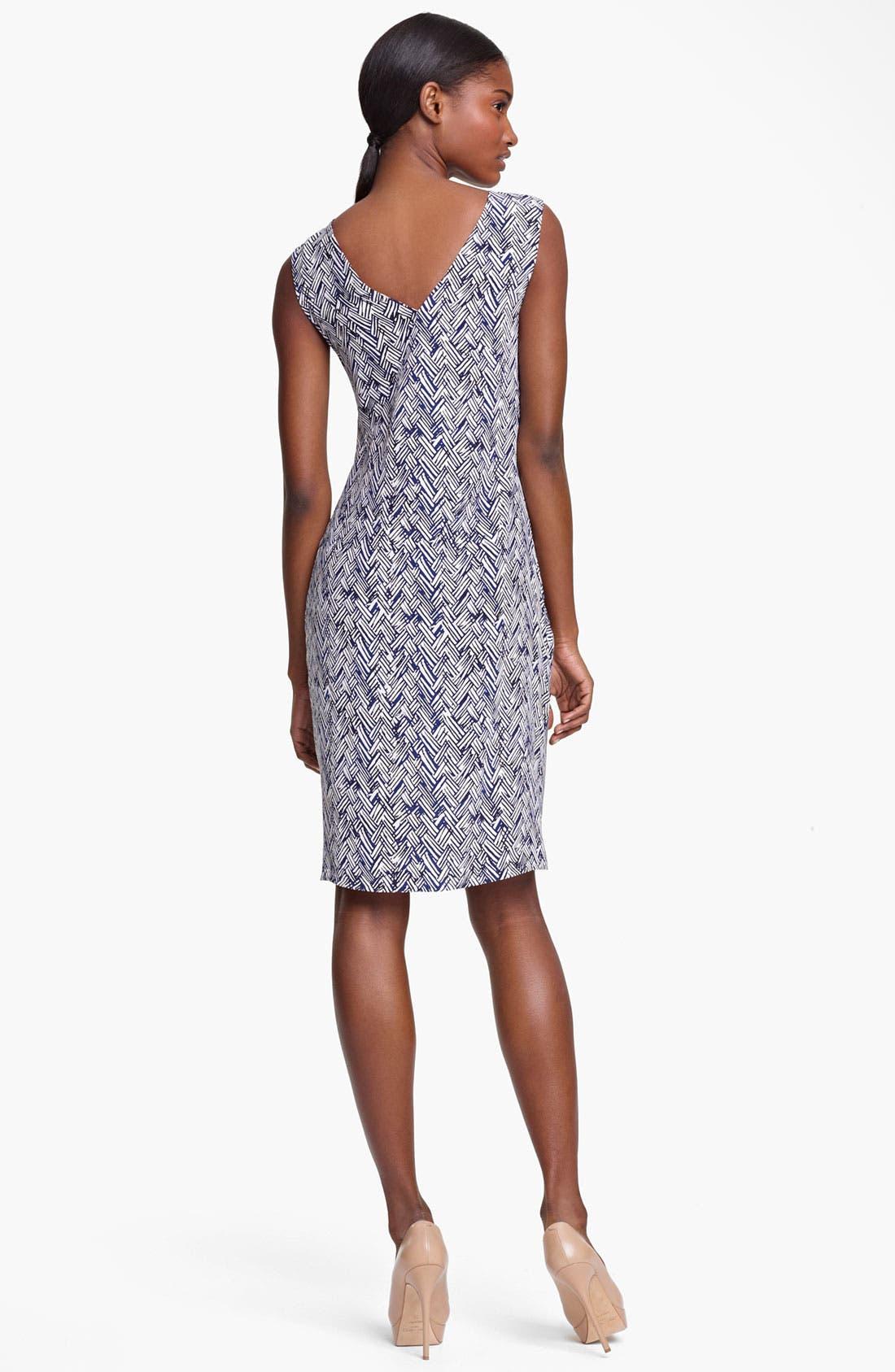 Alternate Image 2  - Thakoon Basket Weave Print Silk Dress
