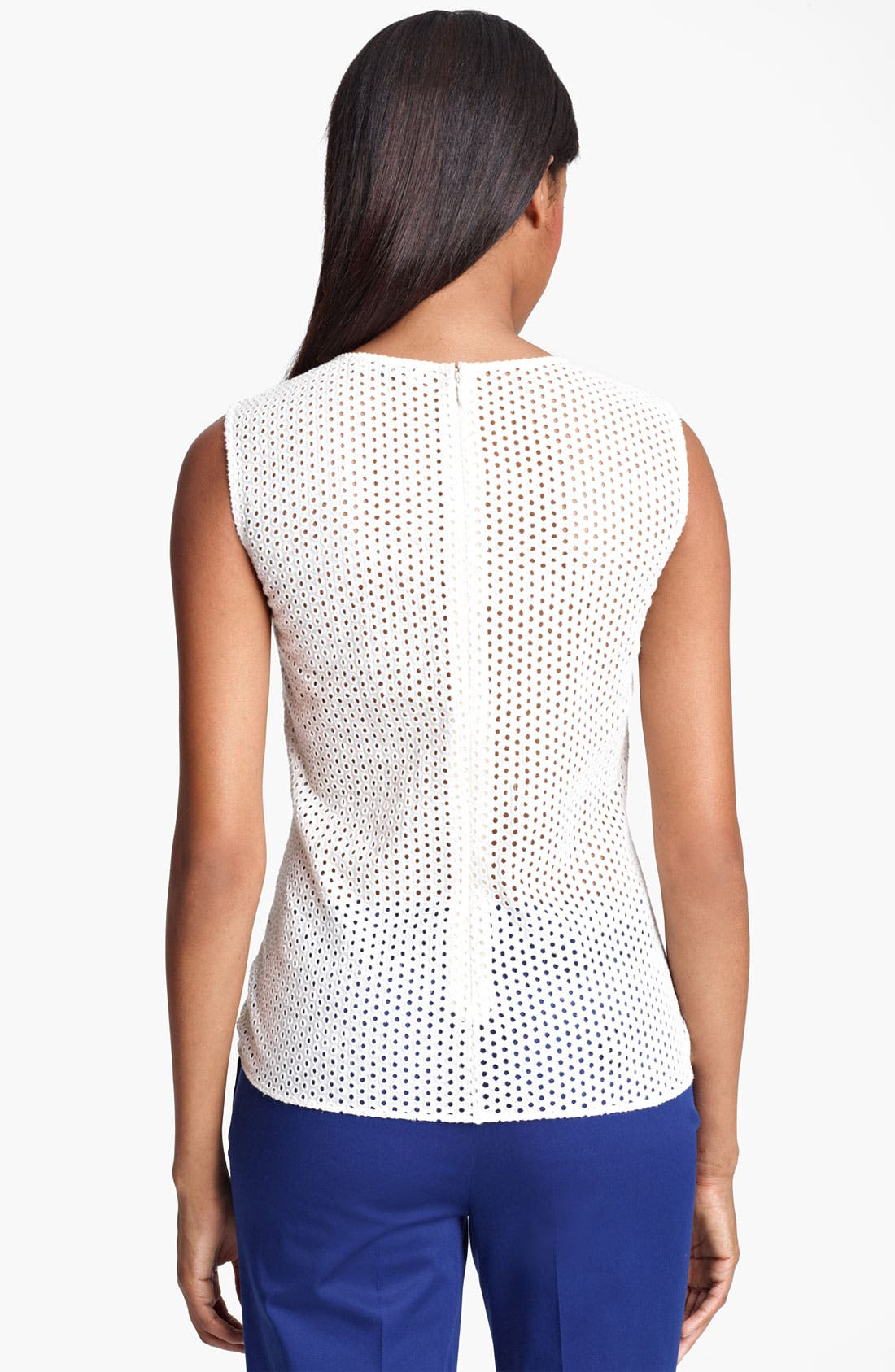 Alternate Image 2  - Moschino Cheap & Chic Sequin & Eyelet Peplum Top