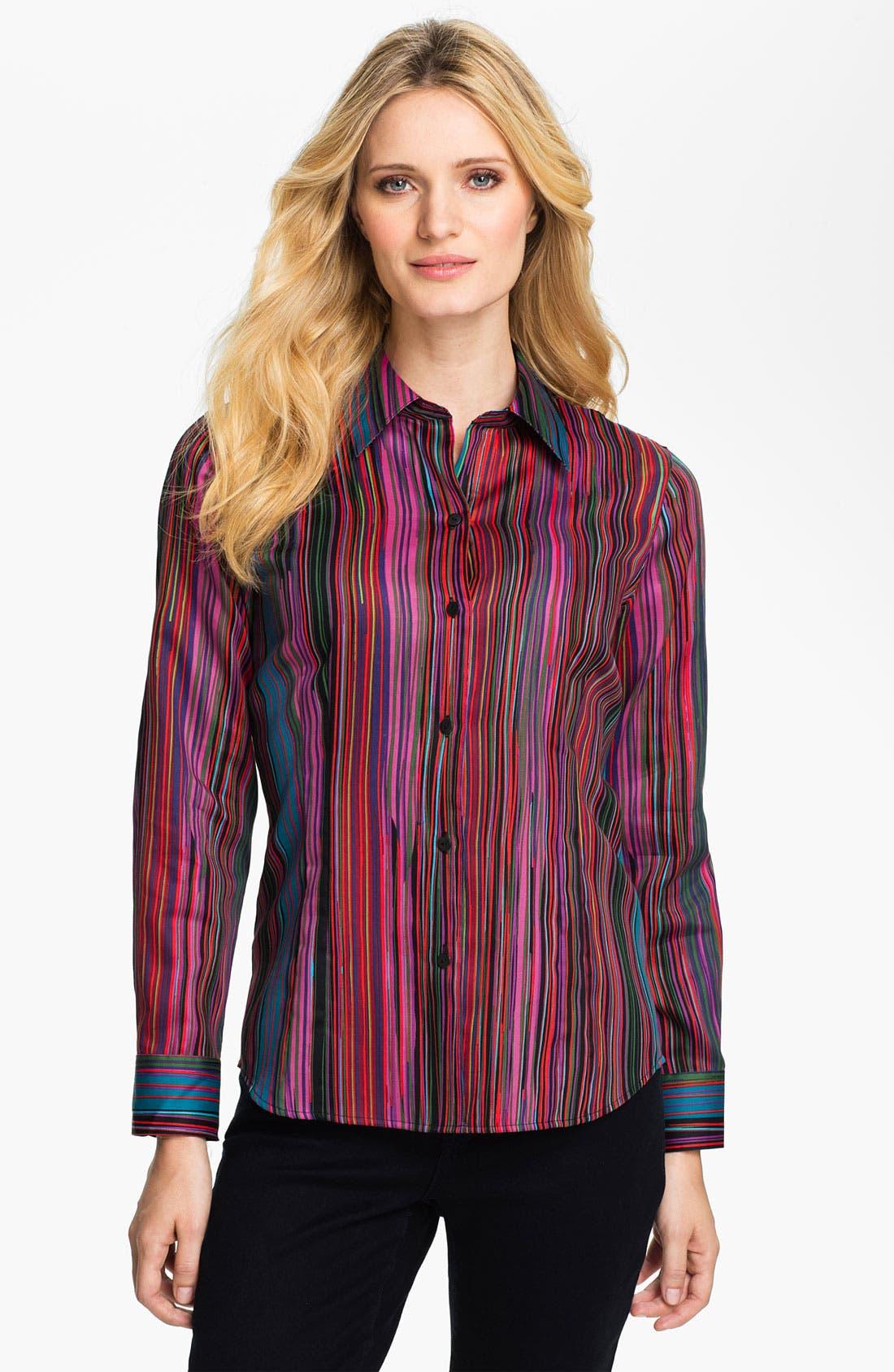 Alternate Image 1 Selected - Foxcroft 'Broadway Stripe' Shirt