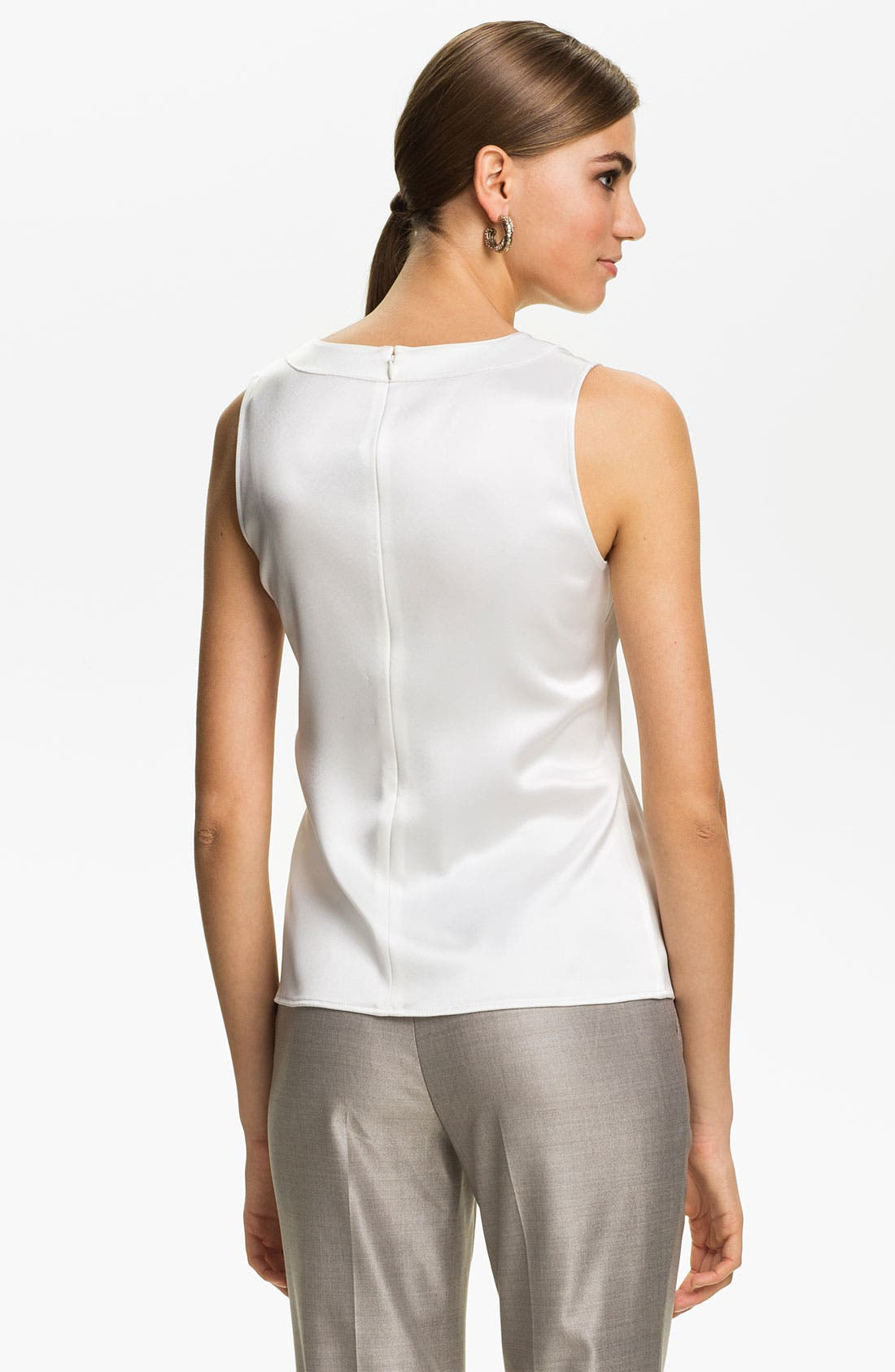 Alternate Image 3  - St. John Collection Scoop Neck Shell