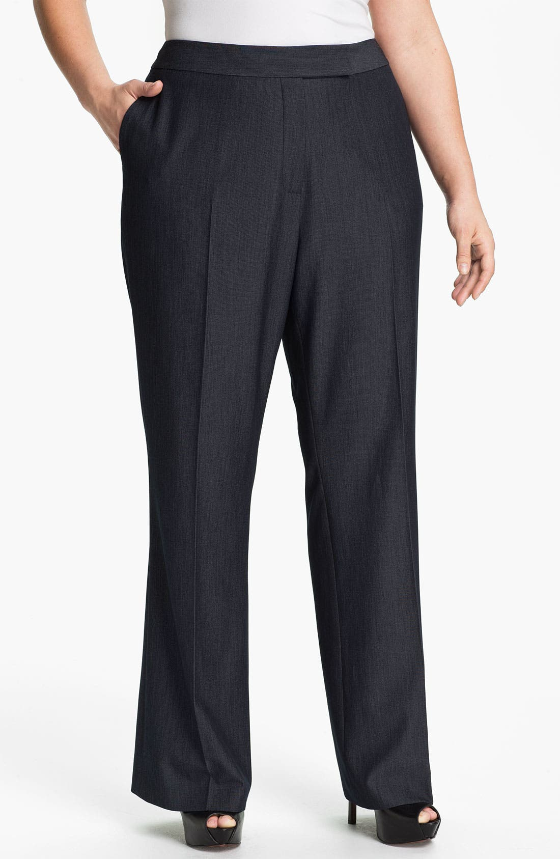 Main Image - Tahari Woman 'Merlin' Pants (Plus)