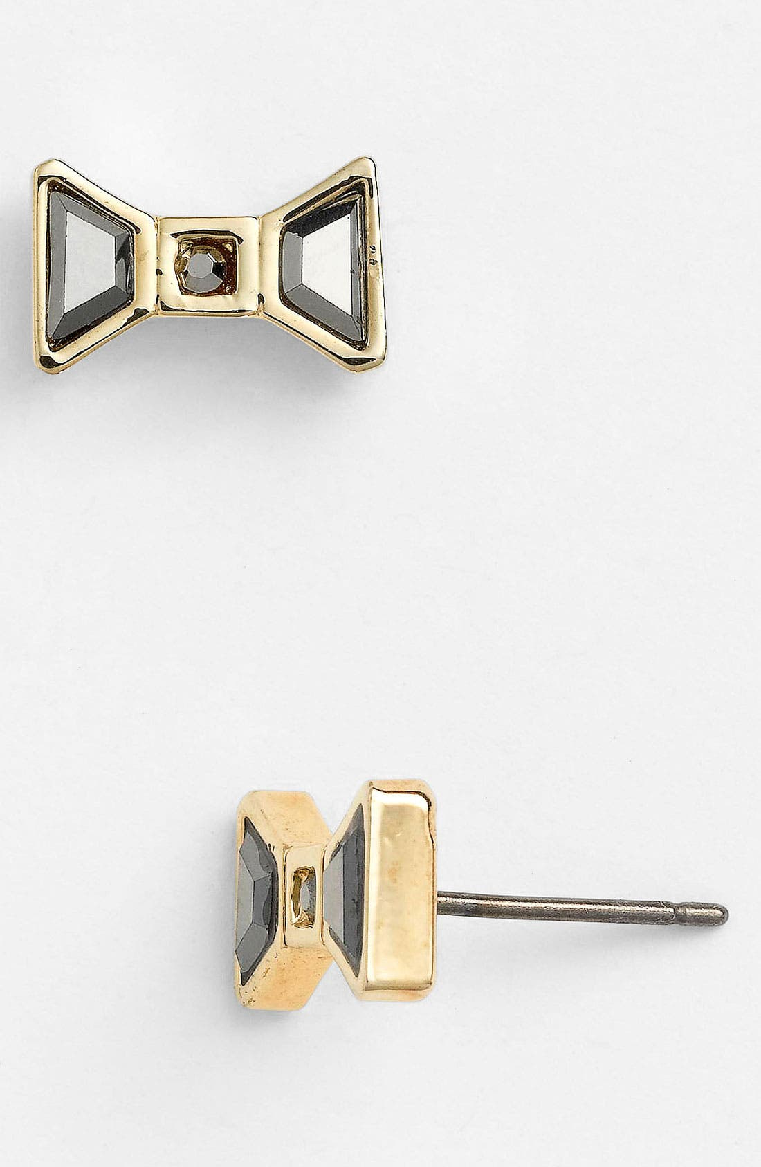 Alternate Image 1 Selected - MARC BY MARC JACOBS Crystal Bow Stud Earrings