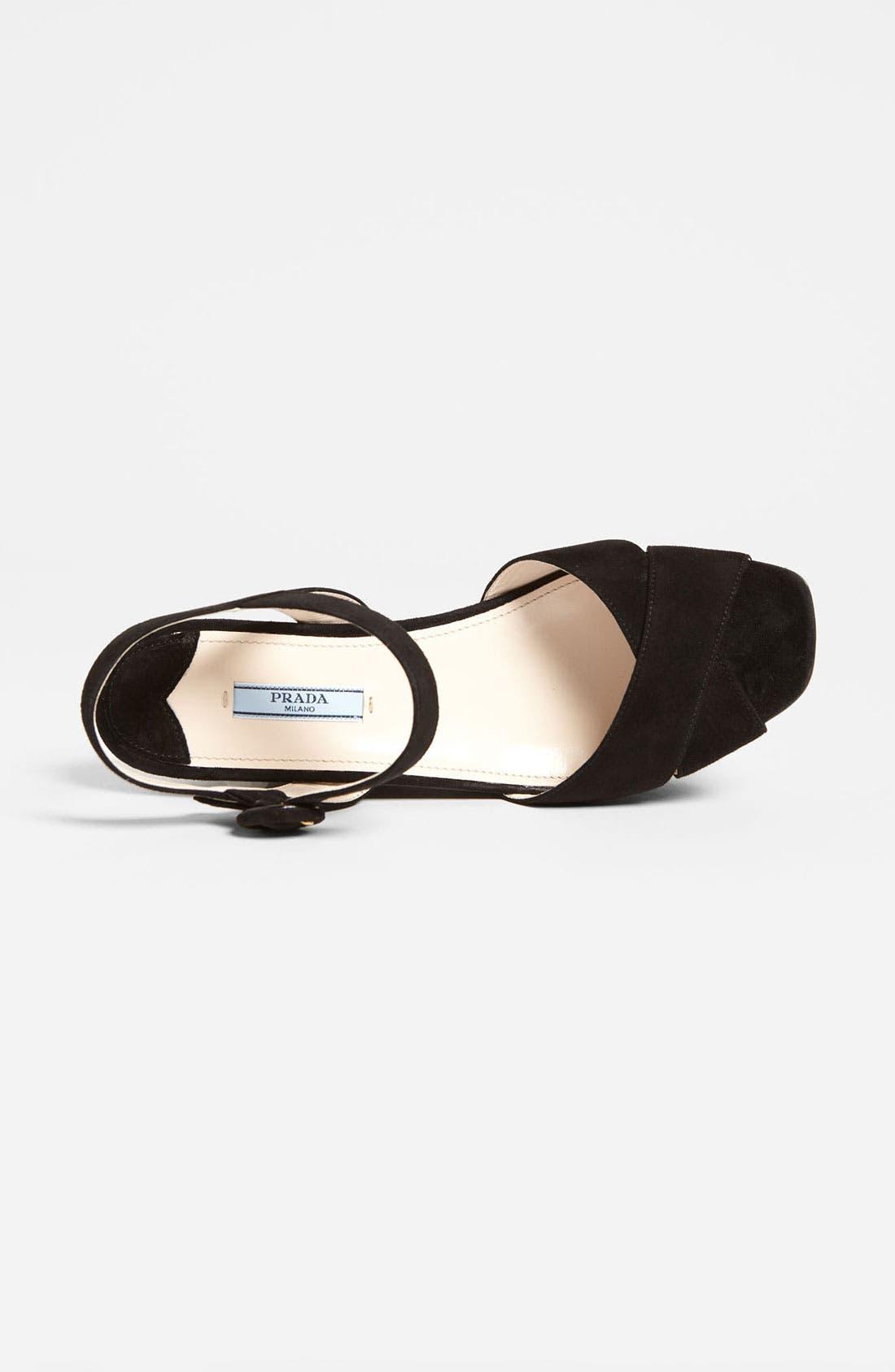 Alternate Image 4  - Prada Suede Wedge Sandal