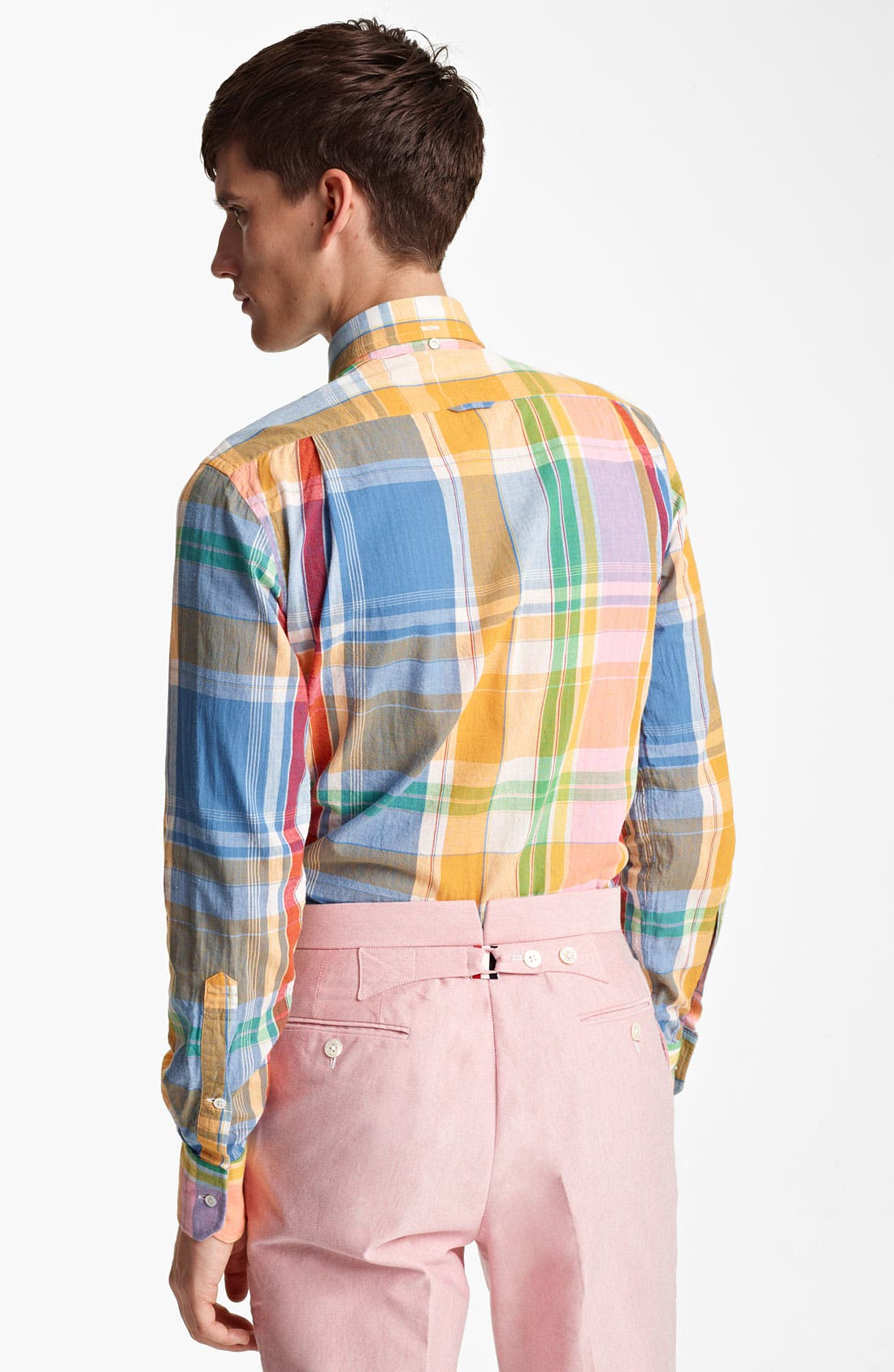 Alternate Image 2  - Thom Browne Multicolor Madras Plaid Cotton Shirt