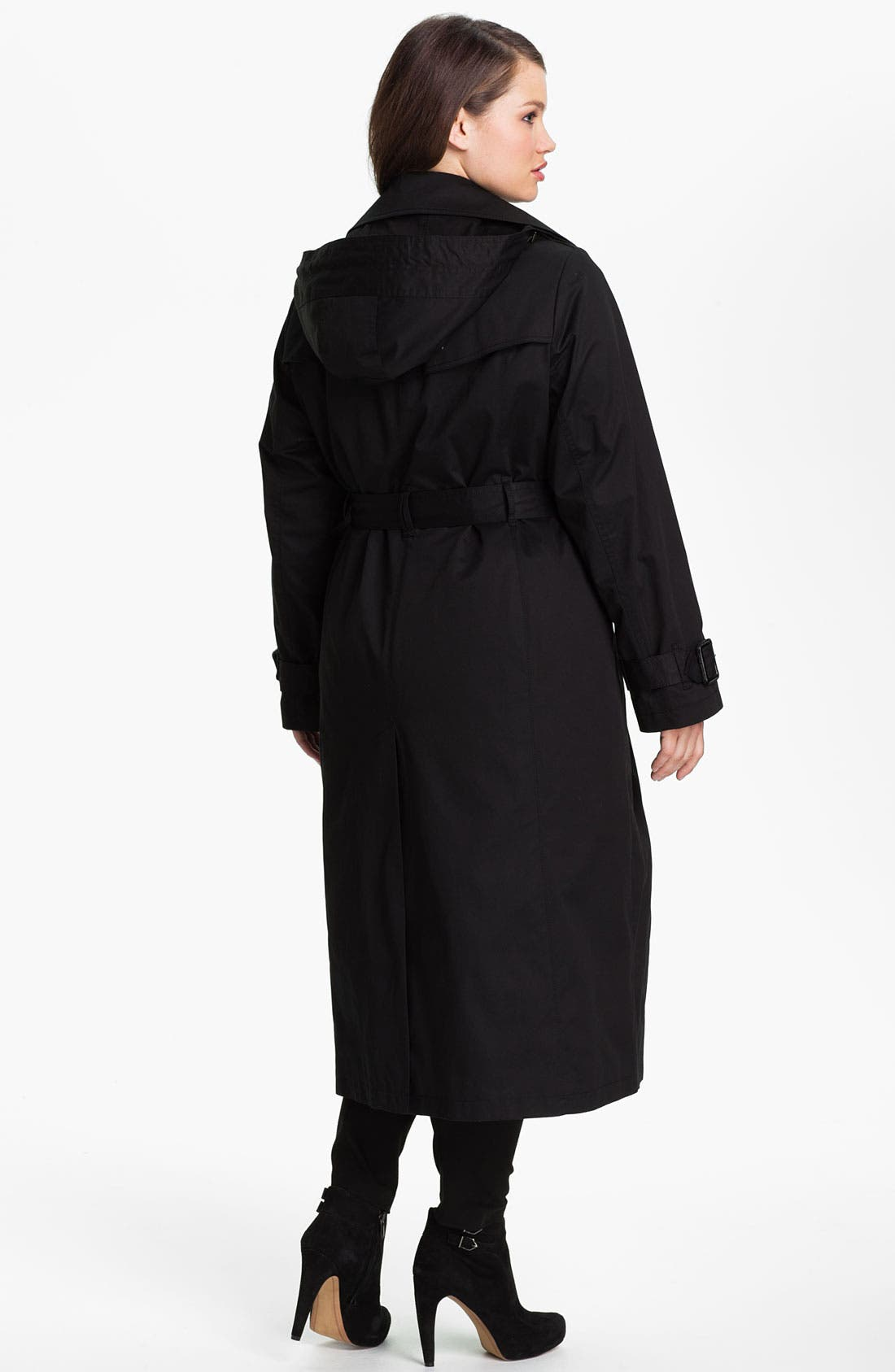Alternate Image 2  - London Fog Long Trench Raincoat with Liner (Plus Size) (Online Only)