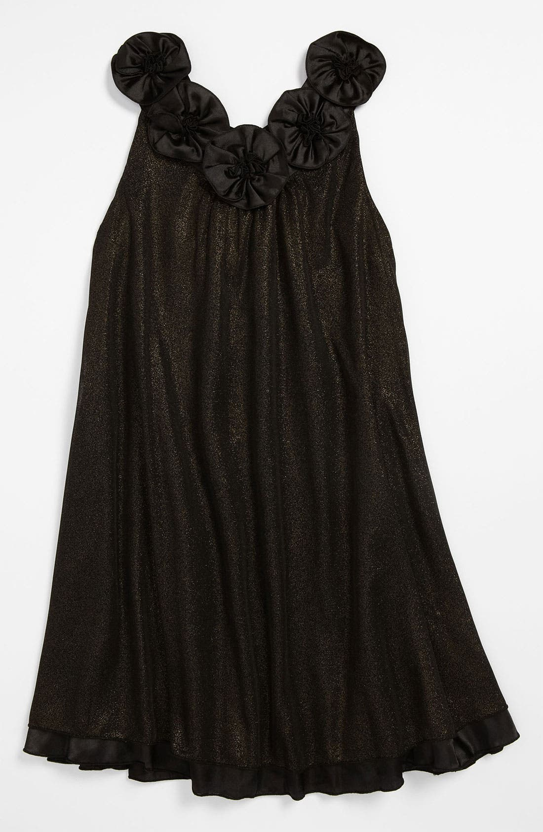 Alternate Image 1 Selected - Laundry by Shelli Segal 'Diana' Glitter Dress (Big Girls)