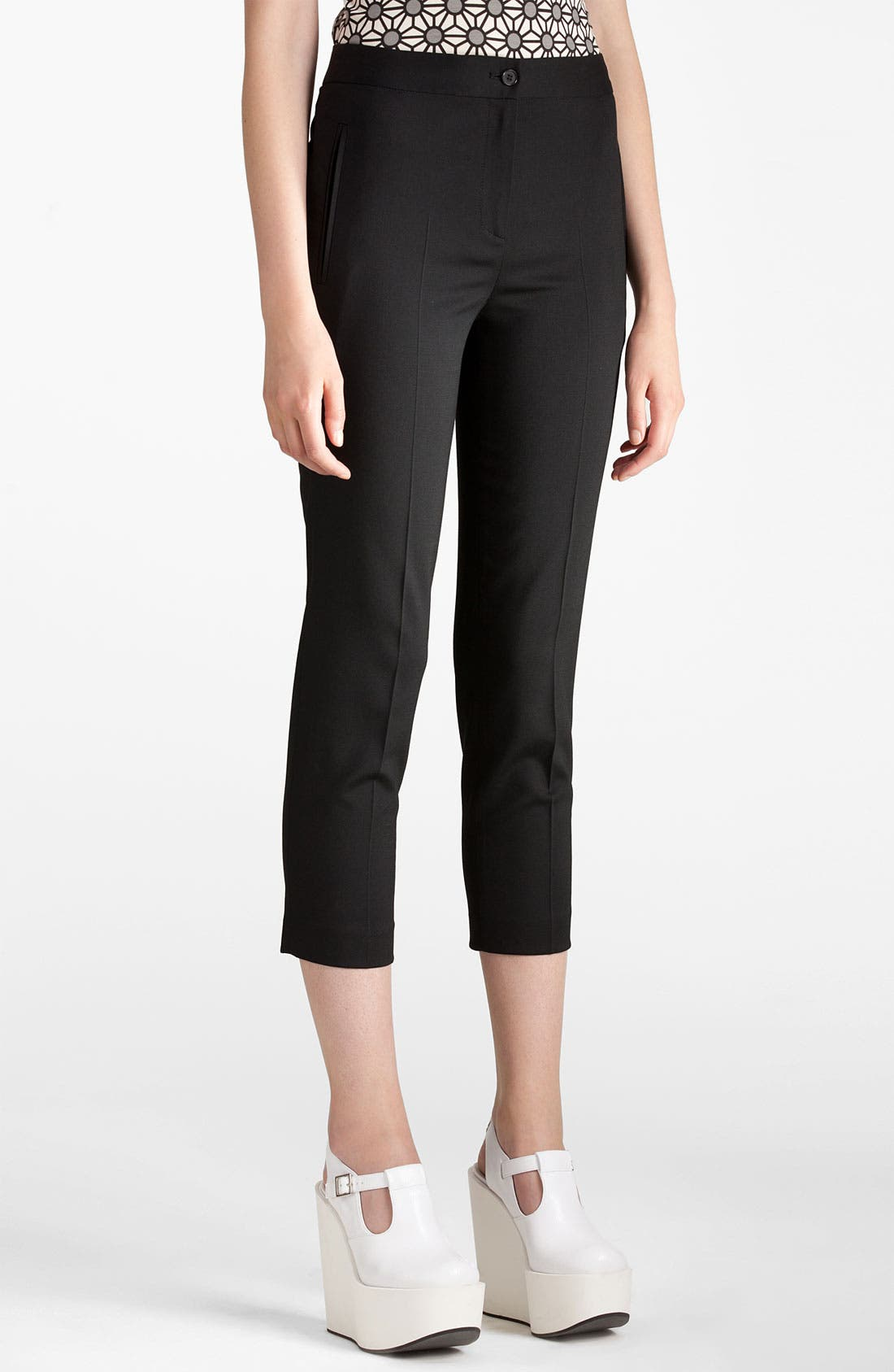 Alternate Image 1 Selected - Jil Sander Navy Stretch Wool Crop Pants
