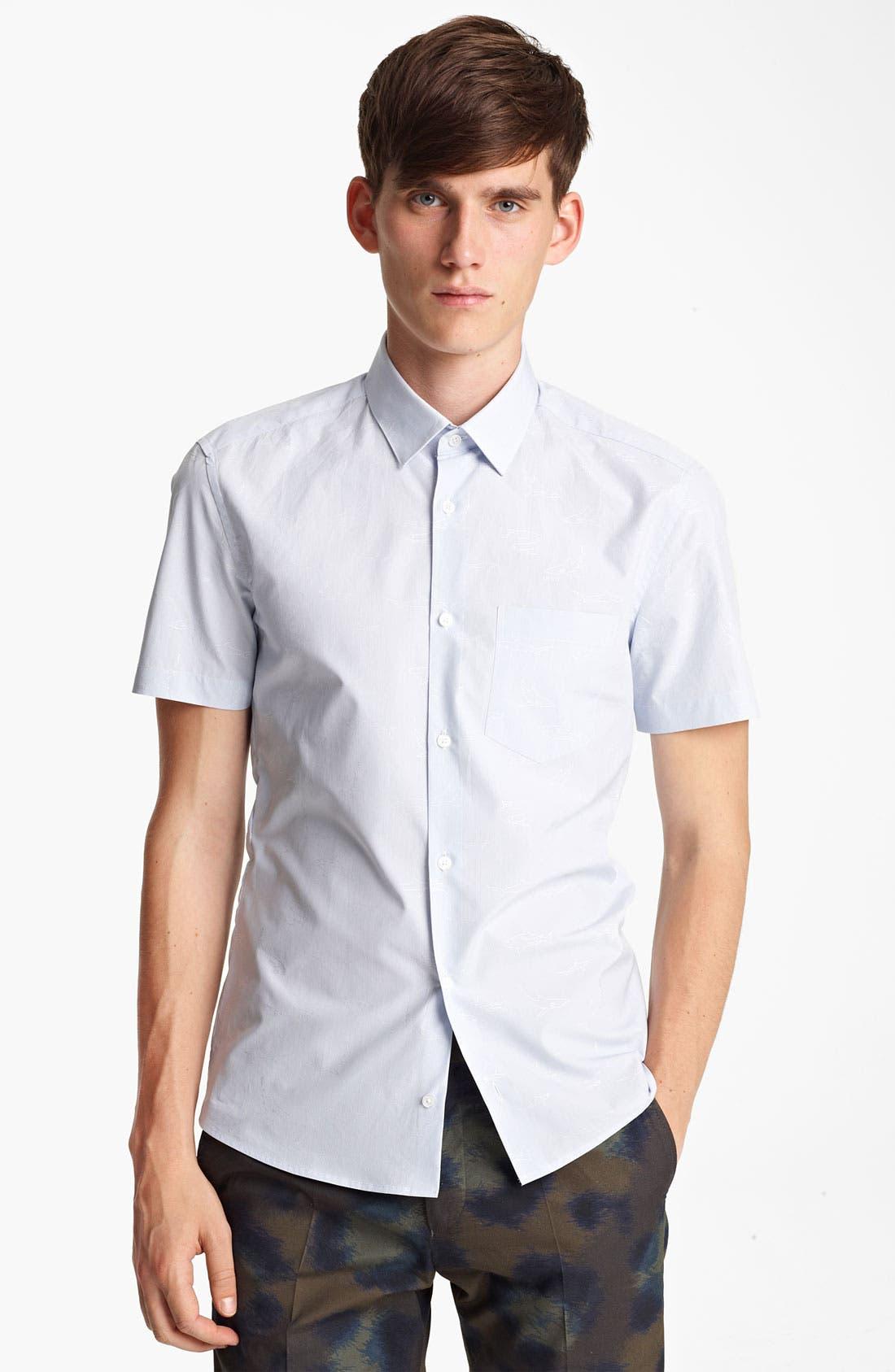 Alternate Image 1 Selected - KENZO Shark Print Woven Shirt