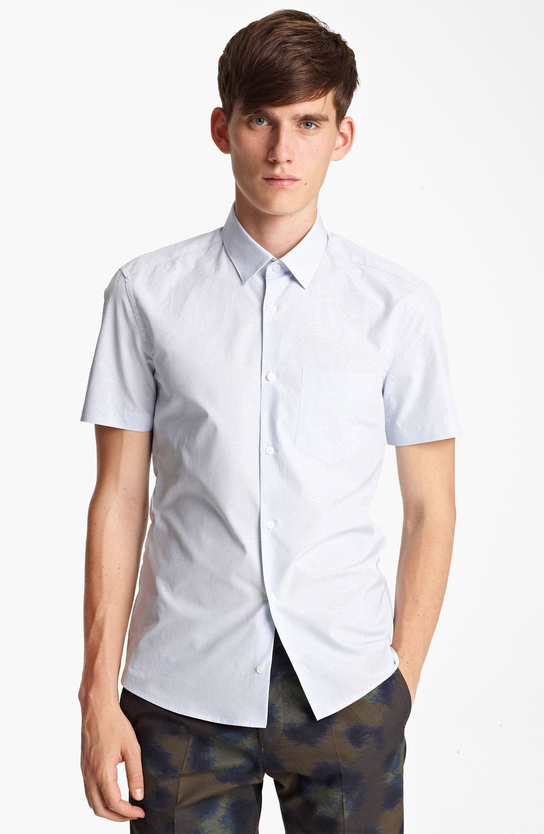Main Image - KENZO Shark Print Woven Shirt