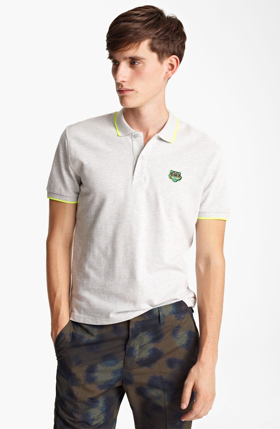 Alternate Image 1 Selected - KENZO Tipped Piqué Polo