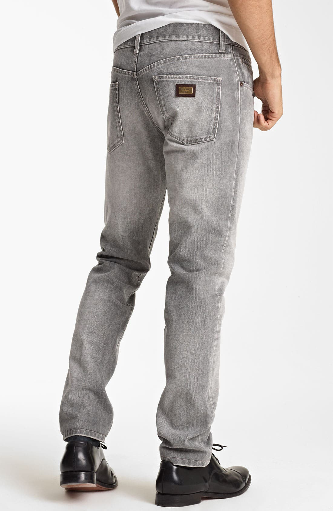 Alternate Image 2  - Dolce&Gabbana Slim Straight Leg Jeans (Medium Grey)